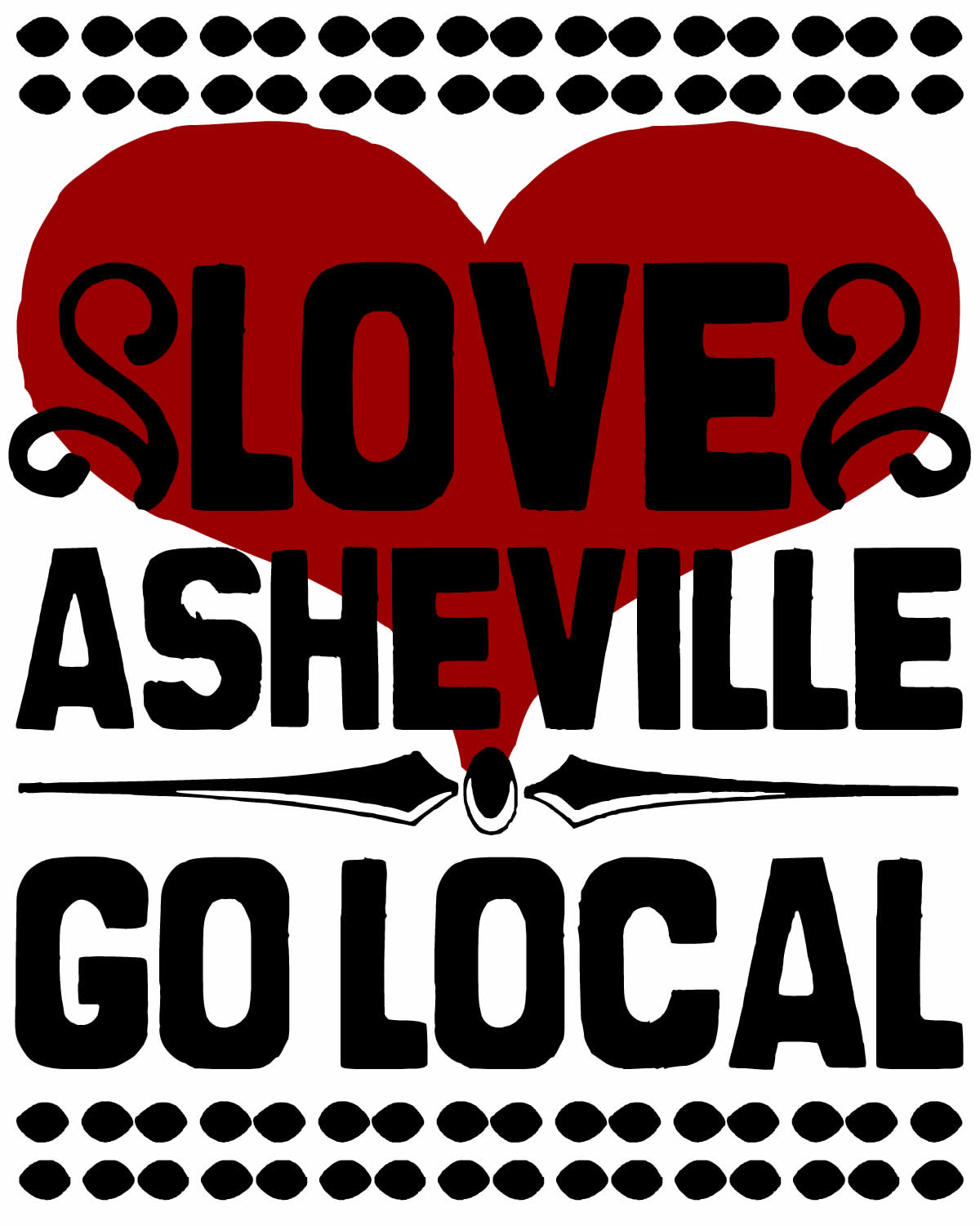 love asheville go local 4x5