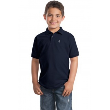 Youth Cotton Polo Navy