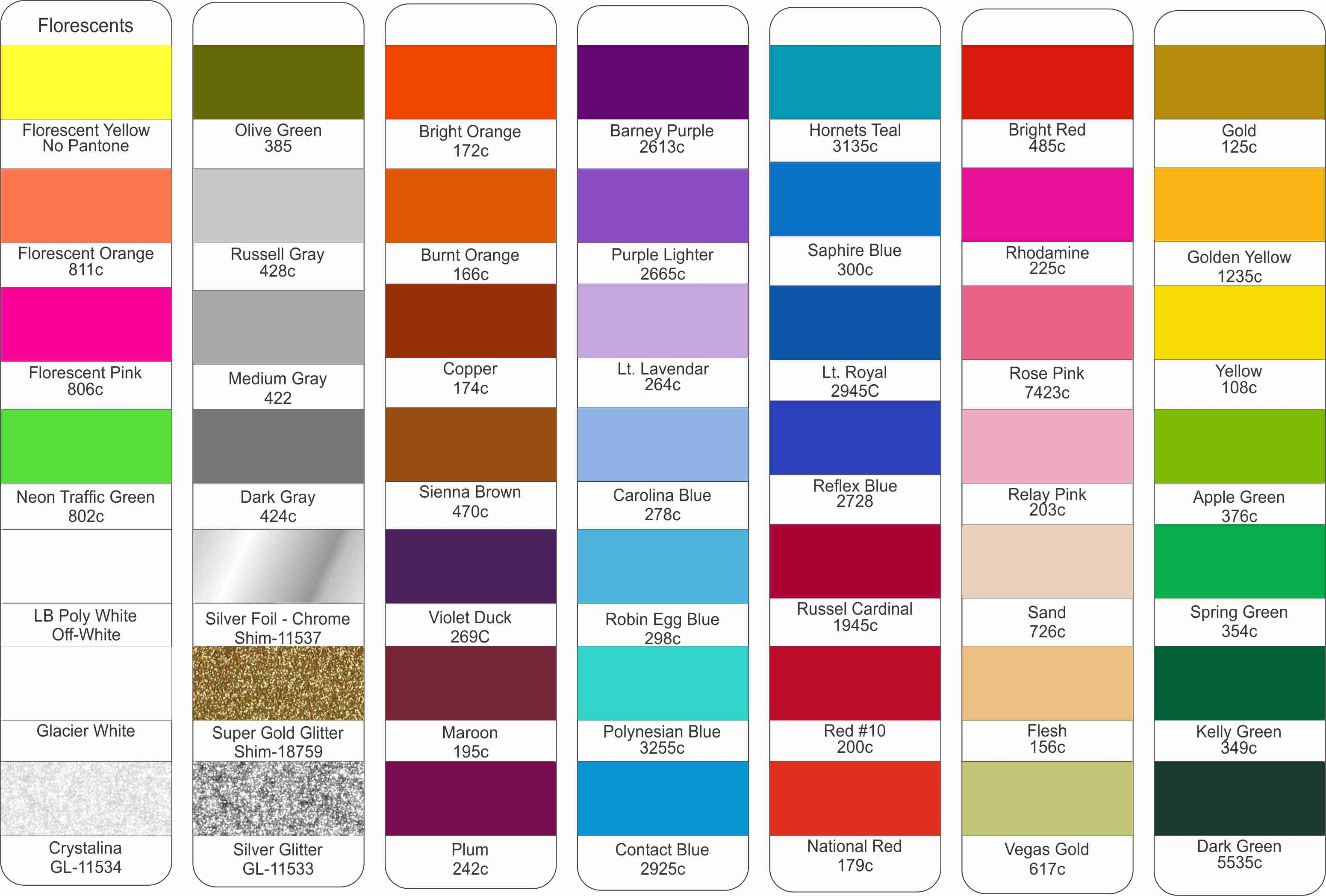lkn prints color card